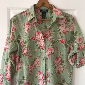 Lauren Ralph Lauren lightweight button-up shirt L